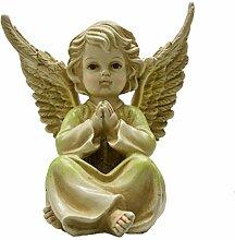 Tremont Gartenfigur Engel mit Blumenmuster,