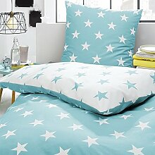 Trend Bettwäsche hellblau Größe 135x200 cm