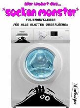 TREND DESIGN - Waschmaschinen Aufkleber ***Das Socken Monster*** - freie Farbauswahl!
