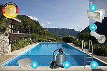 Trend Rechteck-Pool Top 25 Komplettset 4,00 x 8,00 x 1,50 m