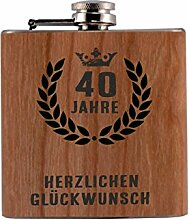 Trendagentur KEPPLINGER Flachmann Metall/Holz