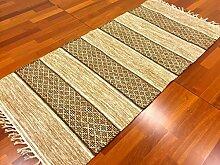 Trendcarpet Flickenteppich - Visby (Beige) Größe 70 x 350 cm