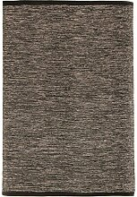 Trendcarpet Teppich 135 x 190 cm (baumwollteppich) - Slite (schwarz-weiß) Größe 135 x 190 cm