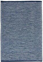 Trendcarpet Teppich 160 x 230 cm (baumwollteppich) - Slite (blau) Größe 160 x 230 cm