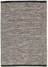 Trendcarpet Teppich 160 x 230 cm (baumwollteppich) - Slite (grau) Größe 160 x 230 cm