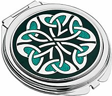Trendfarbe grün Mackintosh Trin Kells Kreise Design Kompakt Spiegel Sea Gems NEU in BOX