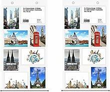 Trendfinding 2 x Fotovorhang Fotowand Fototaschen