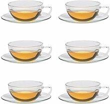 Trendglas Jena Teetasse OPUS mit Glasunterteller