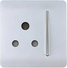 Trendi Switch - Moderne Steckdose britisch 3-Pin mit Schalter 15A 1 Gang glänzend ART-SKT13WH