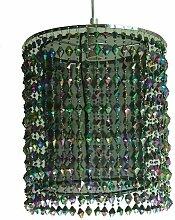 Trendiger Leuchtenschirm mit Kunststoff-Perlen und