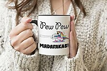 Trending Pew Pew Unicorn Madafakas Schwarzer Griff