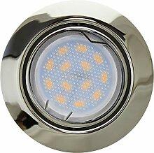 TrendLine Einbauleuchte 3er-Set Brest Chrom LED 3