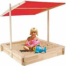 TrendLine Holz-Sandkasten mit Dach 120x120x17,5 cm