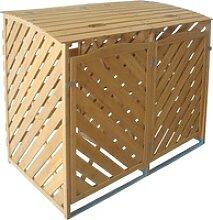 TrendLine Mülltonnenbox aus Holz für 2 x 240 l