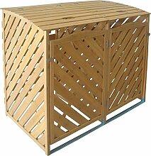 TrendLine Mülltonnenbox Holz 2 x 240 l