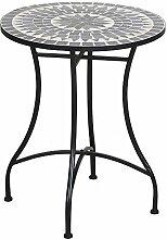 TrendLine Tisch Bretagne Mosaik rund ß: 60 cm H: