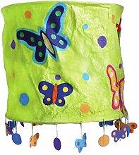 Trends 312671 Lampenschirm Schmetterlinge - grün