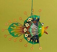 Trendshop-online Fisch Kugelfisch aus Metall zum