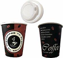 TRENDSKY 200 Stück Kaffeebecher Coffee to go mit