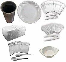 Trendsky® EINWEG Party-Set 100 x Plastik