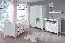Trendteam Babyzimmer Kombination Holz Weiß One