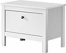 Trendteam Garderobe Sitzbank Schrank Schuhschrank Ole, 55 x 45 x 35 cm in Weiß mit viel Stauraum