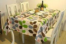Trendy Modern Style Willow Feuilles Motiv Nappe Toile Tissu Restaurant Tischdecke Gießen Pique-nique en plein air Nutzung, 24 pouces par 24 pouces