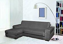 Trendy Sofabezug mit Penisel 190 cm dunkelgrau