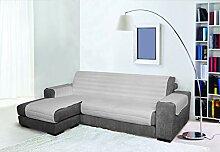 Trendy Sofabezug mit Penisel 240 cm grau