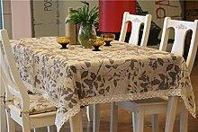 Trendy Stil Pastoral verlässt Muster Tischdecke Bettwäsche und Baumwollgewebe Table Restaurant Table-Abdeckung für Picknick im Freien Gebrauch, 56 Zoll von 88 Zoll
