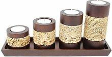 Trendy Wood & Light Türmchen braun Kerzenhalter