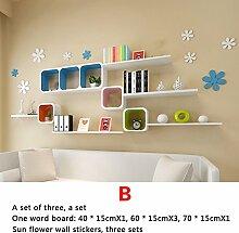 Trennwände, Wandgitter gestell, Wandfarbe Farbe Wohnzimmer Restaurant Sofa TV Wanddekoration gestell (stil : B)
