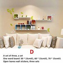 Trennwände, Wandgitter Regale, Wandfarbe Farbe Wohnzimmer Restaurant Sofa TV Wanddekoration Racks ( stil : D )