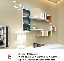 Trennwände, Wandgitter Regale, Wandfarbe Farbe Wohnzimmer Restaurant Sofa TV Wanddekoration Racks ( stil : E )