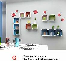 Trennwände, Wandgitter Regale, Wandfarbe Farbe Wohnzimmer Restaurant Sofa TV Wanddekoration Racks ( stil : G )