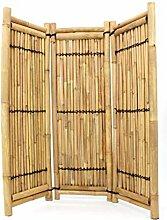 Trennwand aus Bambus 3teilig gelb- braun