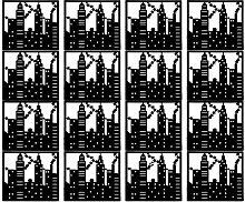 Trennwand Dekorativer Raumteiler City schwarz aus