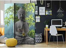 Trennwand Paravent mit Buddha Motiv 135 cm breit