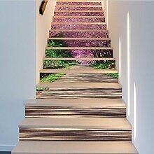 Treppe Aufkleber Wand Aufkleber DIY 3D Kirsche und