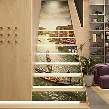 Treppe Aufkleber Wand Aufkleber DIY 3D Self-Kleber
