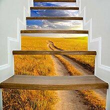 Treppe Herbst Prärie Landschaft Kreativ Haushalt Korridor Treppen Dekoration Sticks 100 * 18cm * 6S