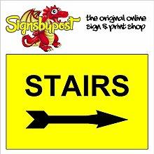 Treppen mit Pfeil nach rechts wetterfest Schild