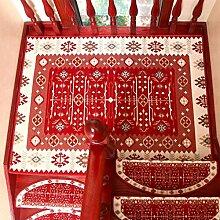 Treppenmatten WYQLZ Europäische rote Treppe
