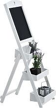 Treppenregal mit Tafel Harald-weiß