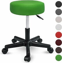 TRESKO® Rollhocker Grün Arbeitshocker Hocker