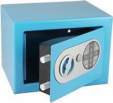 Tresor 17 E - Stahltresor, Möbeltresor mit Pin-Code-Tastatur in verschiedenen Farben (blau)