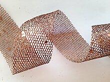 Tresor mit Glitzer-Gitter, 1 m, Brown Col 75, 30 mm