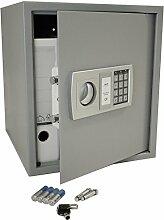 Tresor / Safe mit elektronischem Zahlenschloss - hellgrau