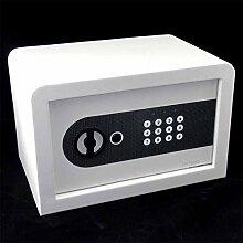 Tresor Safe Möbeltresor mit Zahlencode + Notschlüssel - 21 l - WEISS