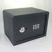 Tresor Safe Möbeltresor mit Zahlencode + Schlüssel - 21 l - metallicschwarz